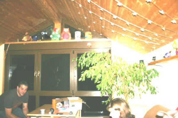 Schatten im Fenster